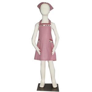 子供用エプロン三角巾セット NEWりんご S/M(S 身長100〜120cm / M 身長120〜135cm)|smilish