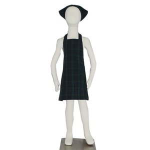 子供用エプロン三角巾セット NEWブラックウォッチ L/LL(L 身長135〜150cm / LL 身長150〜160cm)|smilish