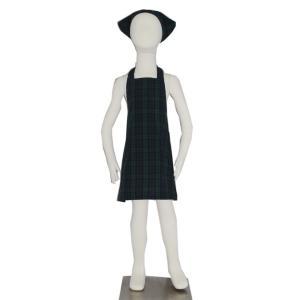 子供用エプロン三角巾セット NEWブラックウォッチ S/M(S 身長100〜120cm / M 身長120〜135cm)|smilish
