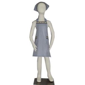 子供用エプロン三角巾セット ベージュマリン S/M(S 身長 100〜120cm/M 身長120〜135cm)|smilish
