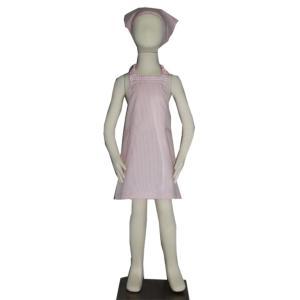 子供用エプロン三角巾セット ピンクレース S/M(S 身長 100〜120cm/M 身長120〜135cm)|smilish