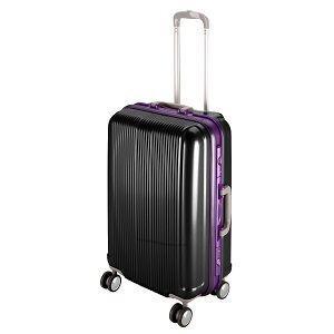 トラベルスーツケース(TSAロック付きHFタイプ)M(ブラック)