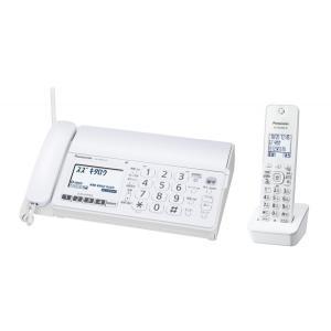 送料無料・在庫品 Panasonic デジタルコードレスFAX 子機1台付き ホワイト KX-PD304DL-W