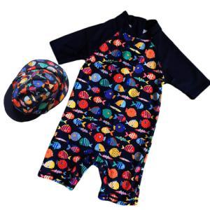 ベビー 水着 男の子 赤ちゃん UPF50+ UVカット 水着 ベビー ラッシュガード 水着 子供 ...