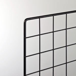 スチールラックワイヤーネット900×900mm 黒|sms