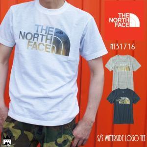 ザ・ノースフェイス THE NORTH FACE メンズ Tシャツ アパレル NT31716 ショートスリーブウォーターサイドロゴティー 半袖 メッシュ 静電ケア 吸水 速乾|smw