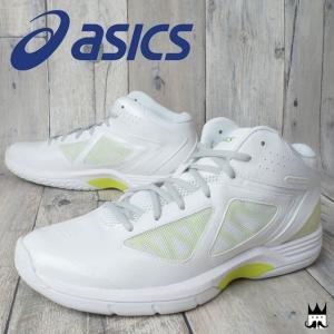 アシックス asics ゲルスクープ メンズ スニーカー TBF313 GELSCOOP バスケットボールシューズ ミッドカット バッシュ カジュアルシューズ ホワイト smw