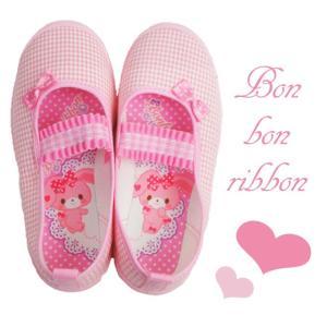 ぼんぼんりぼん 上履き S01 ピンク|smw