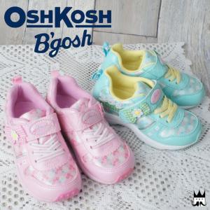 オシュコシュ OSHKOSH 女の子 子供靴 キッズ チャイルド スニーカー OSK C393 OSHKOSH B'qosh ベルクロ カジュアルシューズ 女の子 ガールズ リボン 花 レース|smw