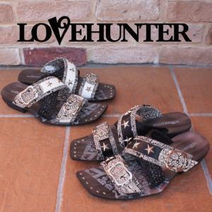ラブハンター LOVE HUNTER 靴 メンズ サンダル 2116 カジュアル お兄系サンダル スタッズ ペイズリー クロスアミベルト|smw