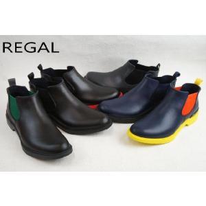 リーガル 靴 57GR REGAL メンズ レインブーツ カジュアル サイドゴア NAVY/YEOR・NAVY/BLNV・ GRAY/BLBL・ B/GYGR・B/BLBL・B/REBL|smw