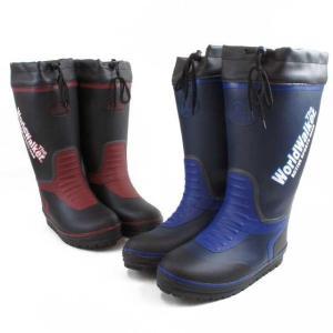 ワールドウォーカー メンズ RB-553 The WorldWalker レインブーツ 雨 雪 ロング丈 ラバーブーツ 長靴 ブラック ネービー|smw