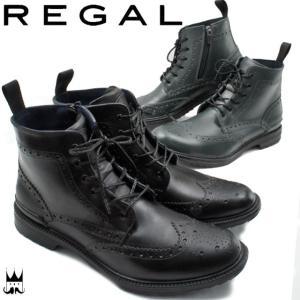 リーガル REGALメンズ 紳士靴 レインシューズ 81JR レースアップシューズ ウイングチップ ...