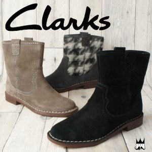 クラークス Clarks レディース ブーツ 734F キャバレーロック ショートブーツ カジュアルシューズ ウエスタン調