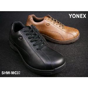 YONEX SHW-MC37 【ヨネックス パワークッション 旅ウォーク メンズ ウォーキングシューズ ブラック ダークブラウン|smw