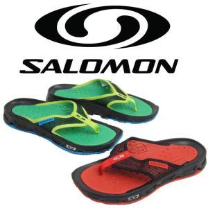 サロモン SALOMON RX ブレーク メンズ サンダル 370704・370705 RX BREAK トングサンダル カジュアル アウトドア 夏  レッド グリーン|smw