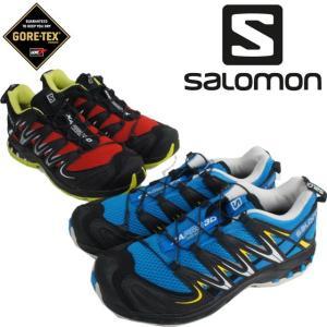 サロモン salomonメンズ スニーカー XA PRO 3D XA プロ 3D トレイルランニング ハイ キング ノルディック ウォーキング  ブルー レッド|smw