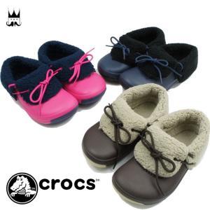 クロックス crocs ブリッツェン コンバーチブル 2.0 k 男の子 女の子 子供靴 キッズ チャイルド 201793 2WAY ショートブーツ ボア モコモコ クロッグ