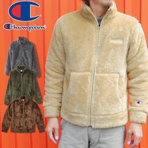 チャンピオン Champion アパレル メンズ C3-L616 フルジップフリースジャケット アウター ジャケット ジップアップ フリース ボア もこもこ 上着 羽織 長袖 防寒|smw