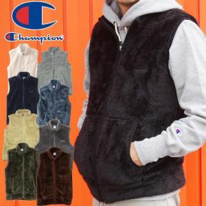 チャンピオン Champion アパレル メンズ C3-L617 フリースベスト アウター ジャケット ベスト ジップアップ フリース ボア もこもこ 上着 羽織 長袖 防寒|smw