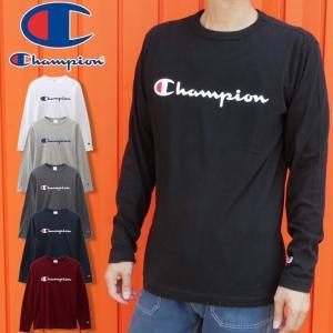 チャンピオン Champion アパレル メンズ C3-Q401 ロングスリーブTシャツ 19FW ベーシック 長袖 ロンT ロンティー ティーシャツ クルーネック 丸首 トップス|smw