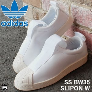 アディダス adidasスーパースター BW35 スリッポン W レディース メンズ スニーカー BY9139 SS SLIPON ローカット ホワイト 白|smw