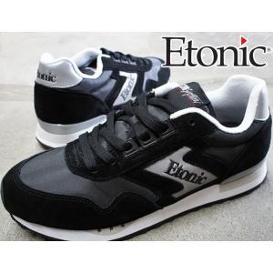 エトニック Etonicマエストロ 1985 メンズ スニーカー MAESTRO1985 ローカット レトロランニング ランニングシューズ ブラック BLACK 黒 EMLJ17-02|smw