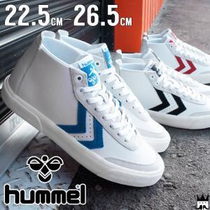 ヒュンメル hummel ストックホルム ミッド メンズ レディース スニーカー 64-432 Stockholm Mid ミッドカット 2001 ブラック 7393 ブルー 3425 レッド|smw