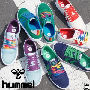 ヒュンメル hummel 靴 レディース スニーカー スリマー スタディール レインボー ロー ローカット シューズ 替え紐付き Rainbow スリム 65028|smw