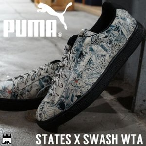 プーマ PUMAメンズ スニーカー 359375 01 STATES×SWASH WTA ステイツ ローカット リミテッド 限定モデル アニマル柄|smw