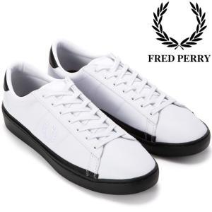 フレッドペリー FRED PERRY メンズ スニーカー B4166 ホワイト スペンサー SPENCER ローカット|smw