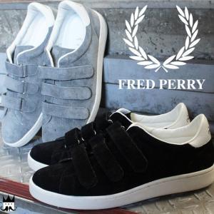 フレッドペリー FRED PERRYメンズ スニーカー F29618 ブロー ベルクロ スエード メイドインジャパン ブラック グレー|smw