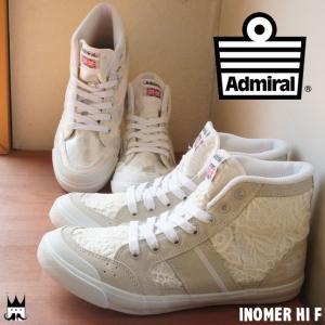 アドミラル Admiral イノマー ハイ F レディース スニーカー INOMER HI ハイカット レース メタリック ホワイト WHITE 白 SJAD1523|smw