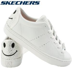 スケッチャーズ SKECHERS スニーカー レディース 73537 ローカット ラインストーン キラキラ ホワイト|smw