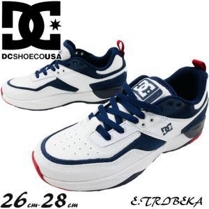 ディーシーシューズ DC SHOES スニーカー メンズ DM192009 イー.トライベッカ ローカット ホワイト/レッド/ブルー 靴|smw