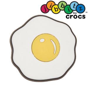 クロックス crocs ジビッツ Sunnyside Up キッズ メンズ レディース 10007122 目玉焼き サニーサイドアップ ラバークロッグ用アクセサリー シューチャーム|smw