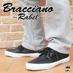 ブラチアーノ Bracciano メンズ スニーカー BR7387 ミッドカット モノトーン シンプル ブラック ホワイト BLACK WHITE 黒 白|smw