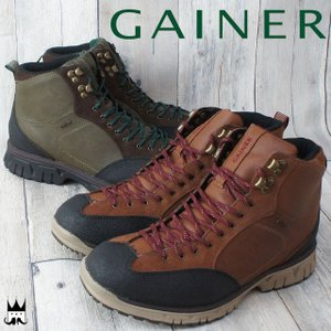 ゲイナー GAINER メンズ トレッキングシューズ GN702 ミッドカット ハイカット スニーカー 防水仕様 ウォータープルーフ ハイキング|smw