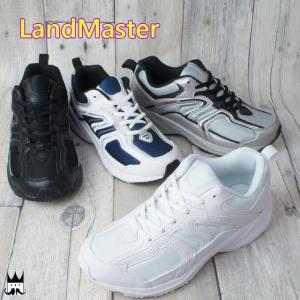 ランドマスター LandMaster レディース メンズ ジュニア スニーカー JM-882 カジュアルシューズ 軽作業靴 真っ白スニーカー 学童用品|smw