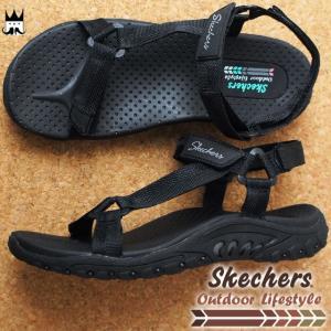 スケッチャーズ SKECHERS レディース サンダル 41032 REGGAE-WATERFALL スポーツサンダル スポサン ブラック BLK|smw