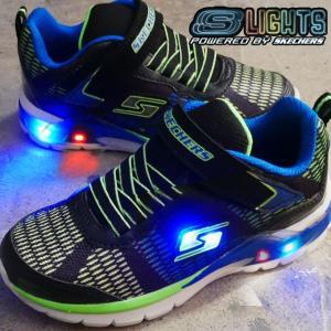 スケッチャーズ SKECHERS 男の子 子供靴 キッズ ジュニア 光る靴 スニーカー 90553L ライトアップスニーカー ベルクロ ローカット SLIGHTS-ERUPTERS II LAVA|smw