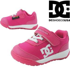ディーシーシューズ DC SHOES スニーカー 女の子 子供靴 キッズ ジュニア DK184602A メダリスト ベルクロ ローカット 通園 ベビーシューズ キッズ靴 ピンク|smw