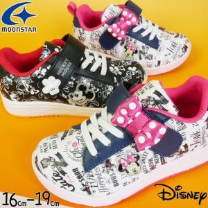 ディズニー Disney スニーカー 男の子 女の子 子供靴 キッズ ジュニア DN C1228 MIC ミッキーマウス ミニーマウス ローカット ベルクロ キッズシューズ Moonstar|smw