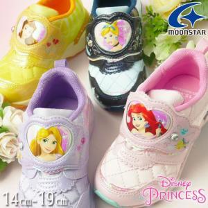 ディズニー Disney プリンセス スニーカー 女の子 子供靴 キッズ ジュニア ベルクロ ラプン...
