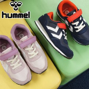 ヒュンメル hummel リフレックス ジュニア 女の子 男の子 子供靴 キッズ スニーカー 64120 REFLEX JR ベルクロ ローカット 8681 ピーコート/レッド 1237|smw