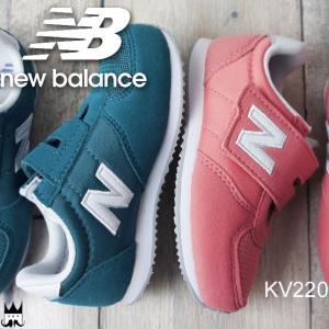 ニューバランス new balance 男の子 女の子 子供靴 キッズ ジュニア スニーカー KV220 ベルクロ 運動靴 マジックテープ 通学 通園 CCY ブルー CPY ピンク|smw