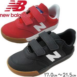ニューバランス new balance 男の子 女の子 子供靴 キッズ ジュニア スニーカー KVT300 ブラック レッド キッズシューズ ベルクロ 運動靴|smw