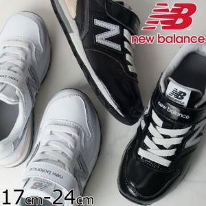 ニューバランス new balance スニーカー 男の子 女の子 子供靴 キッズ ジュニア YV996 ローカット ベルクロ 通園 通学 エナメル ブラック ホワイト|smw