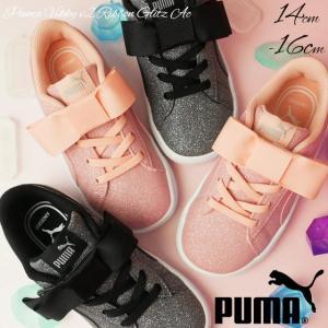 プーマ PUMA ビッキー V2 リボン グリッツ AC スニーカー 女の子 子供靴 キッズ ベビー 370635 ローカット ベルクロ ベビーシューズ キッズシューズ ブラック|smw