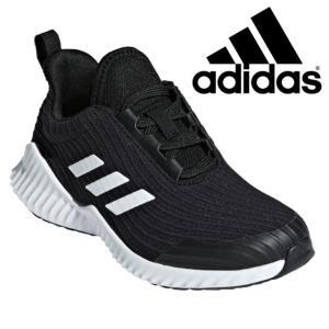 アディダス adidas フォルタラン 2 K 男の子 女の子 子供靴 キッズ ジュニア スニーカー AH2619 ブラック ランニングシューズ スポーツ 運動靴|smw